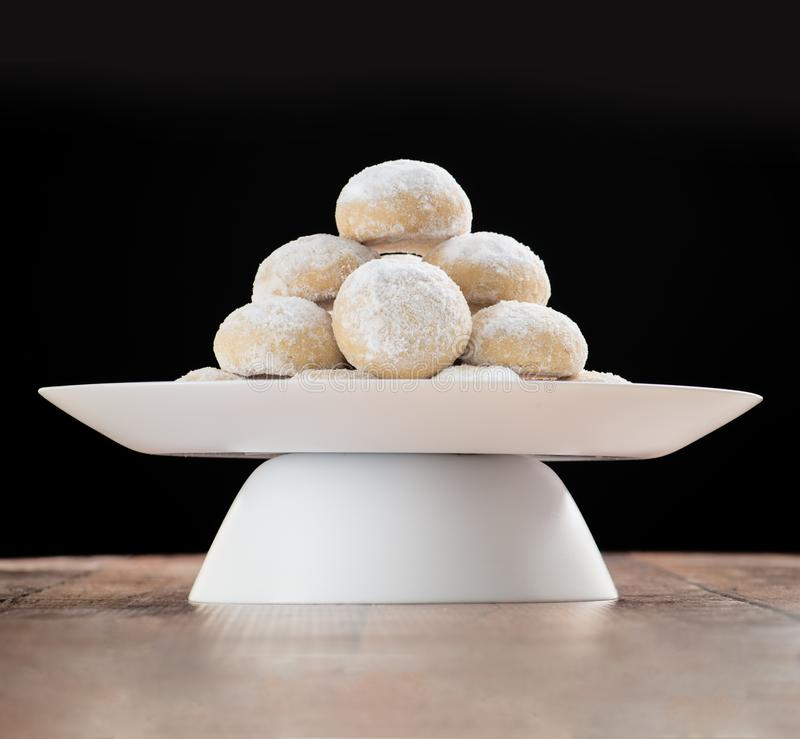 Eid Al-Fitr Cookies Bakery, Moslimlesser holiday snacks royalty-vrije stock afbeelding