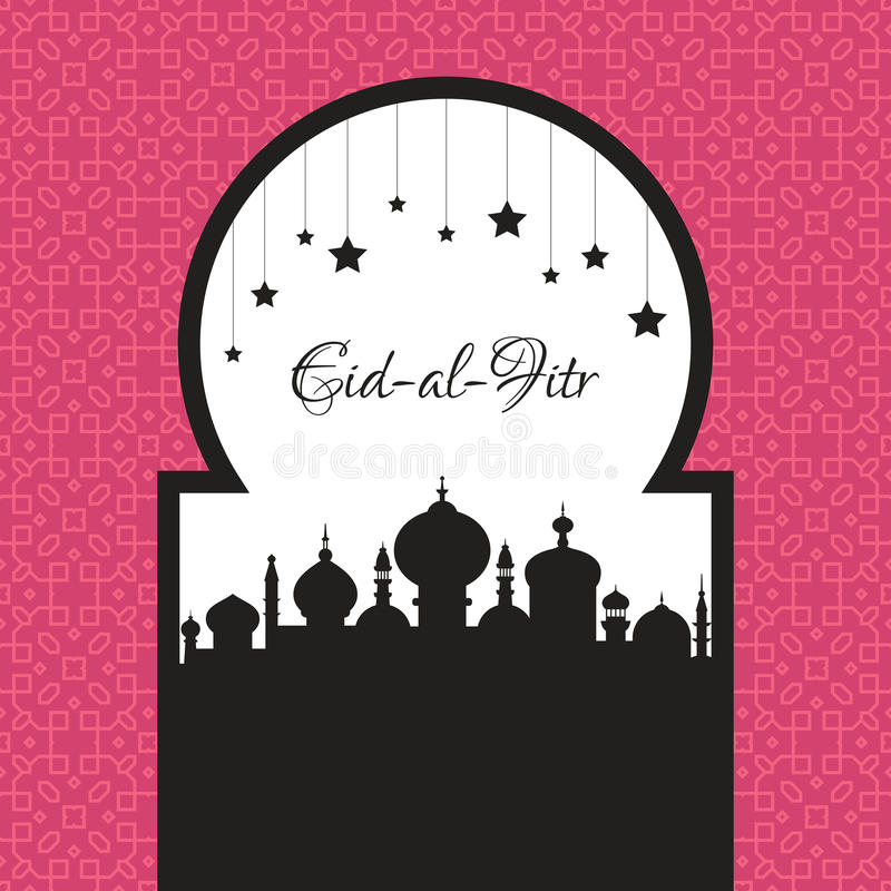 Eid Al Fitr Template royalty-vrije illustratie