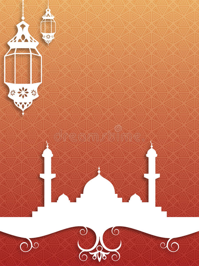 Eid Background royaltyfri illustrationer