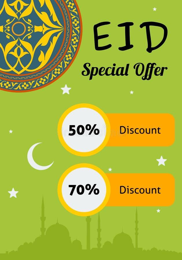 Eid Discount Offer ilustração do vetor