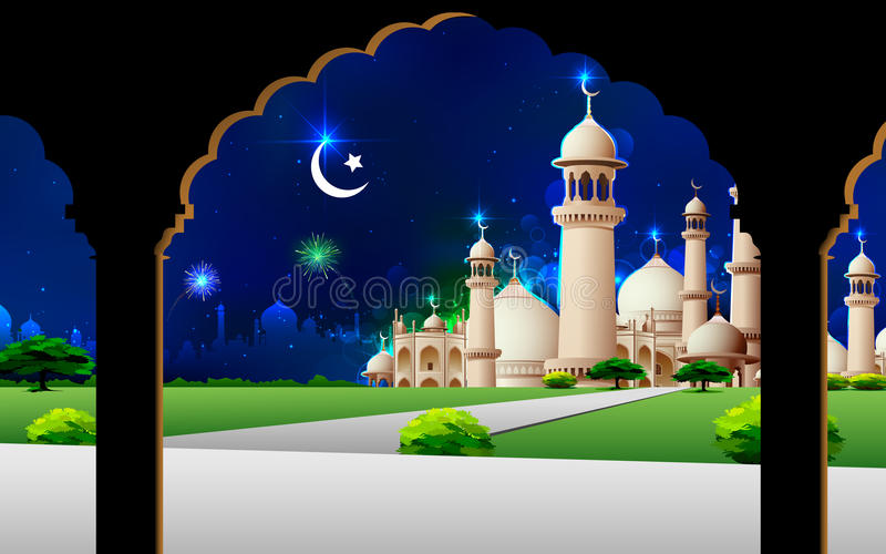 Eid Mubarak иллюстрация штока