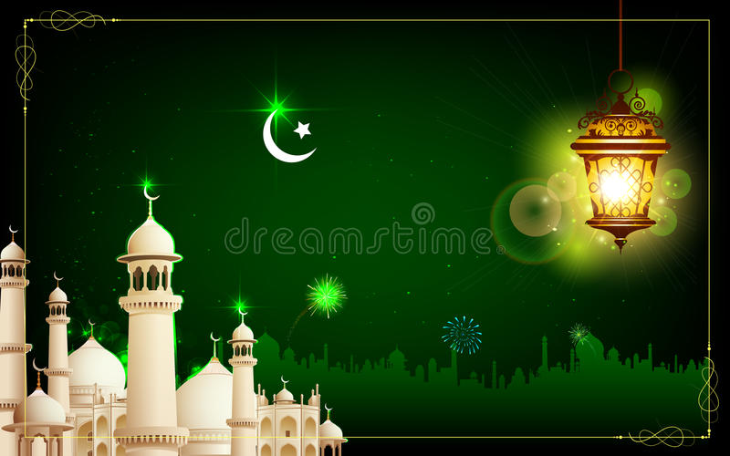 Eid Mubarak stock illustrationer