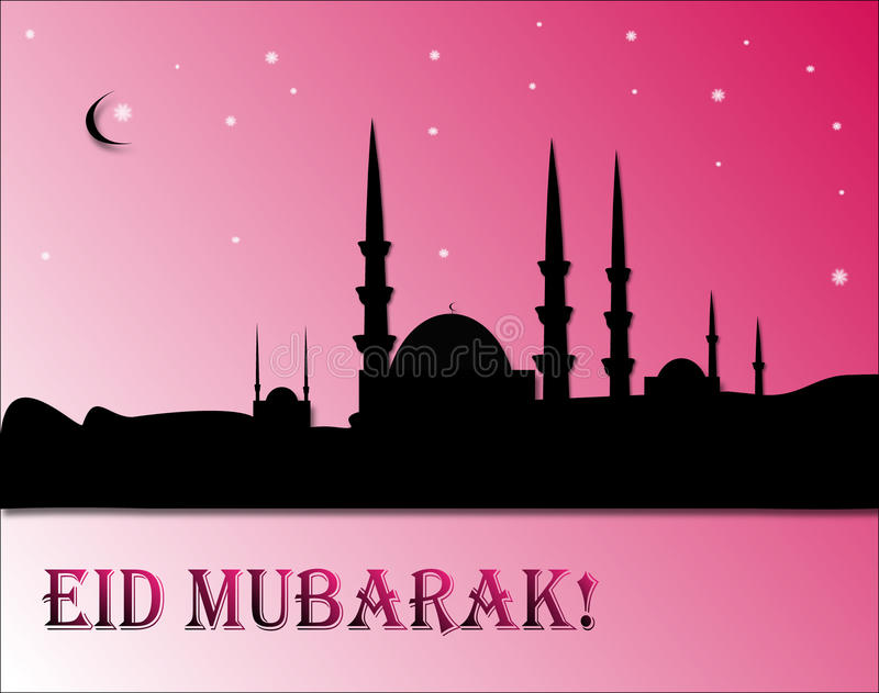 Download Eid mubarak vektor illustrationer. Illustration av moské - 27276778