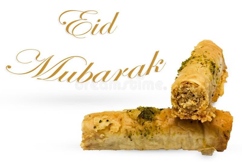 Eid Mubarak imagem de stock