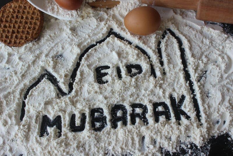 eid mubarak arkivbilder
