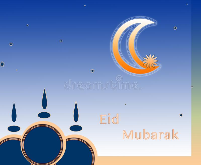 Eid mubarak or arabic traditional muslim greeting stock download eid mubarak or arabic traditional muslim greeting stock illustration illustration of m4hsunfo