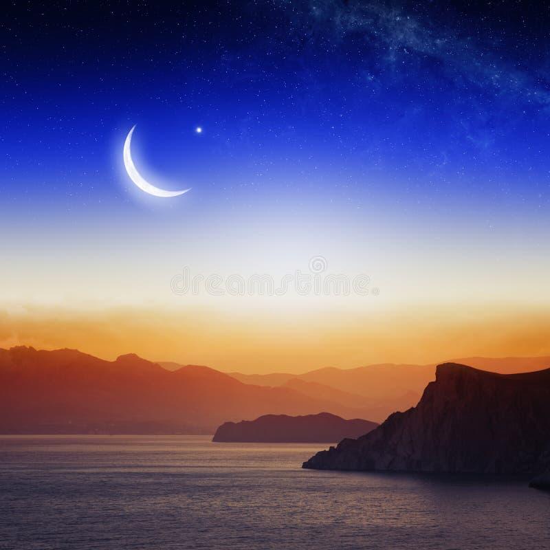 Eid Mubarak bakgrund arkivfoto