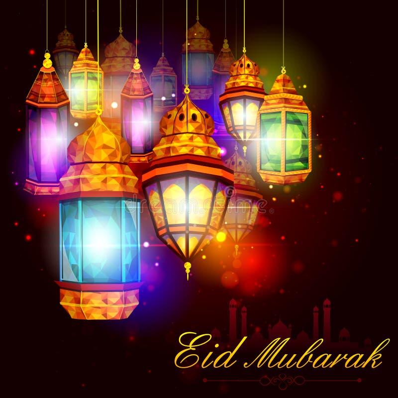 Eid Mubarak bakgrund vektor illustrationer