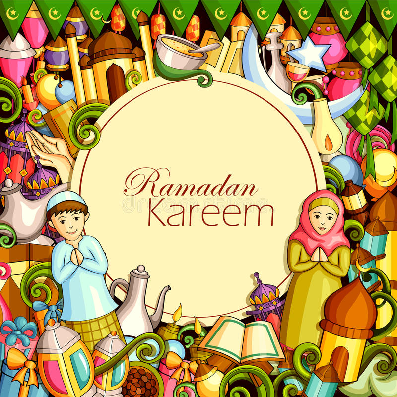 Eid Mubarak Blessing voor Eid-achtergrond royalty-vrije illustratie