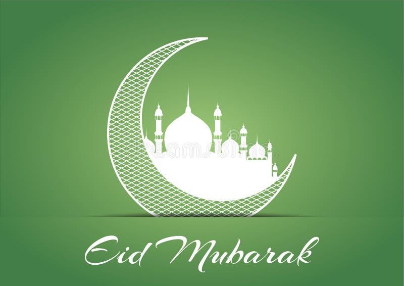 Eid Mubarak Design Background Vector Illustration für Grußkarte, -plakat und -fahne stockfotos