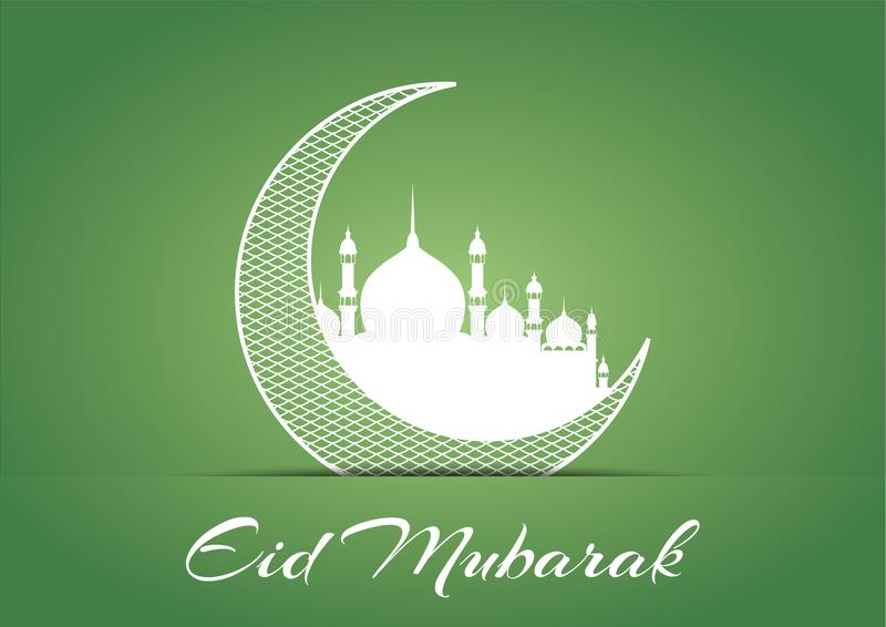 Eid Mubarak Design Background. Vector Illustration for greeting card, poster and banner. stock illustration