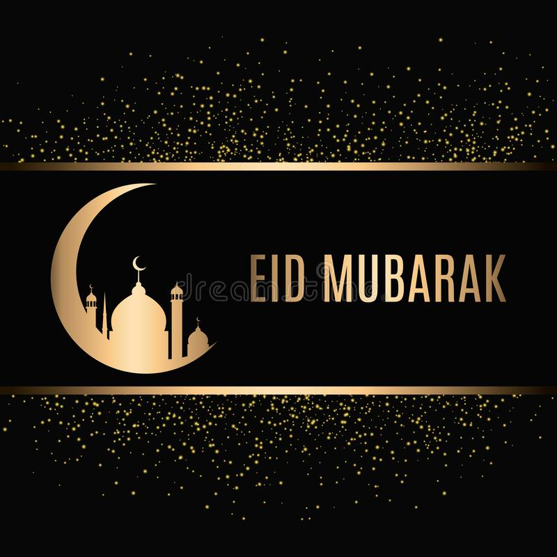 Eid Mubarak Design Background. Vector Illustration for greeting card, poster and banner. vector illustration