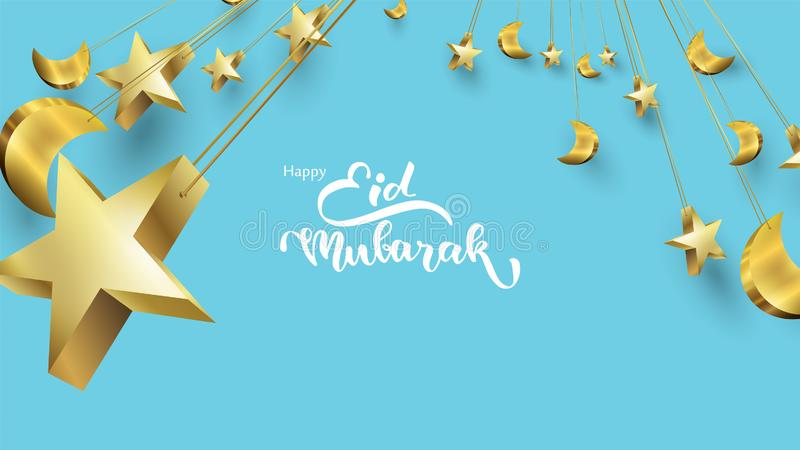 Eid Mubarak Greeting Card Illustration, Ramadan Kareem Vector