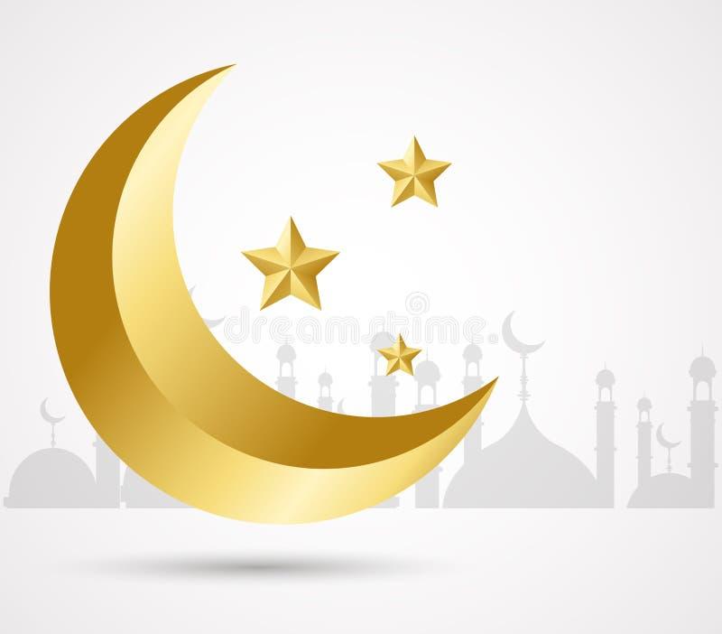 Eid Mubarak Islamic template Mubarak for muslim people. stock image