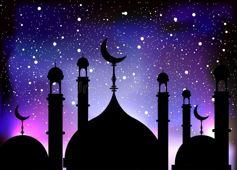 Eid Mubarak Islamic template Mubarak for muslim people. royalty free stock images