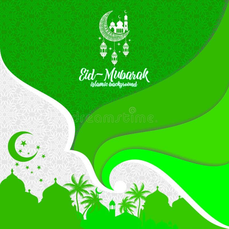Eid-Mubarak Islamitische groetachtergrond royalty-vrije illustratie