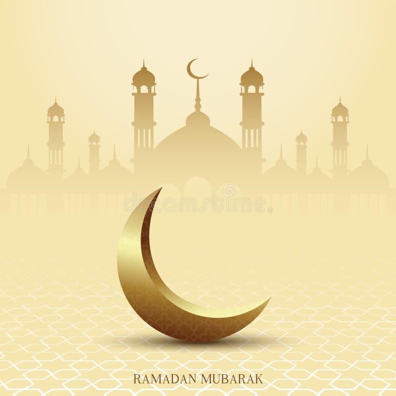 eid mubarak Ramadan Mubarak h?lsningkort med islamiska prydnader vektor royaltyfri illustrationer