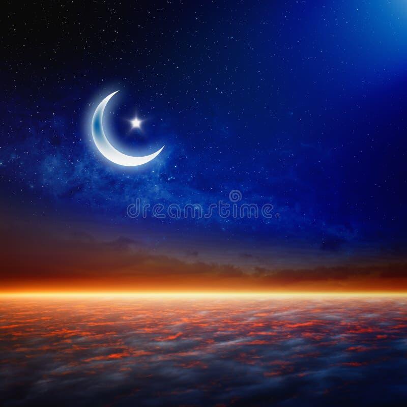 Eid Mubarak, ramazan achtergrond vector illustratie