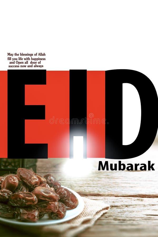 Eid  mubarak slamic design stock images