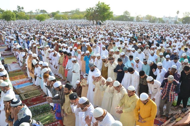 Eid Prayer in Bhopal, Indien lizenzfreie stockbilder