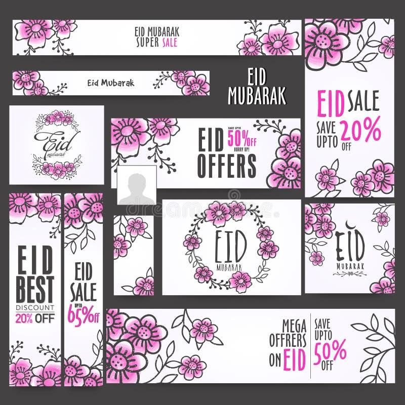 Eid Sale Social Media Ads o posta royalty illustrazione gratis