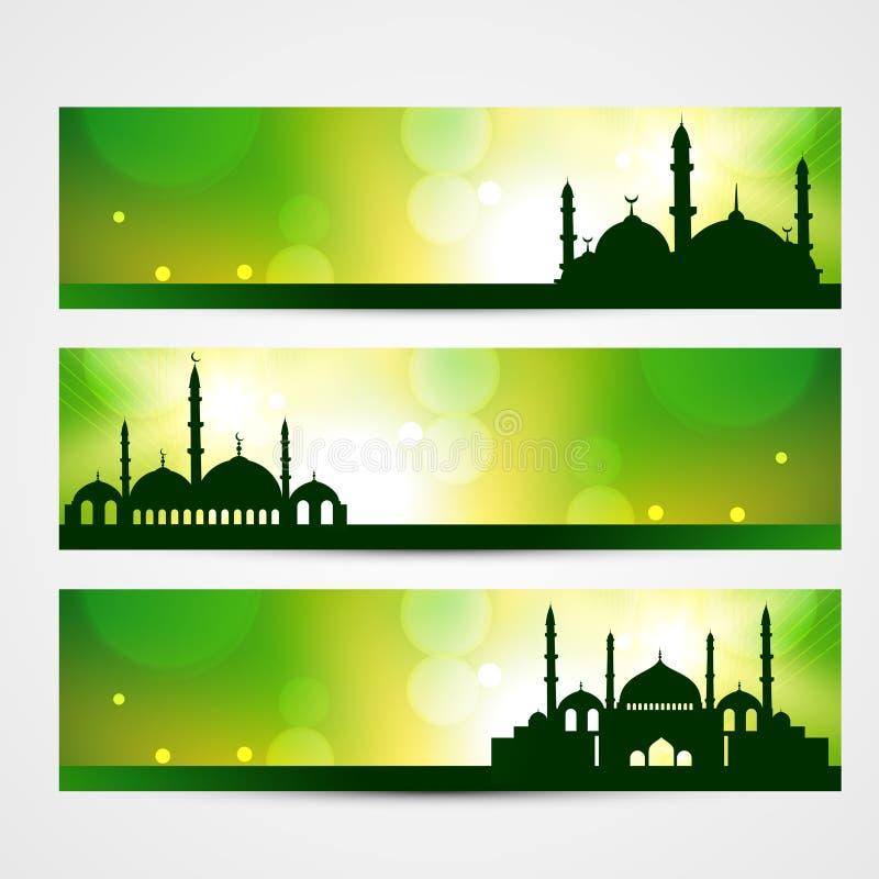 Eid sztandary royalty ilustracja