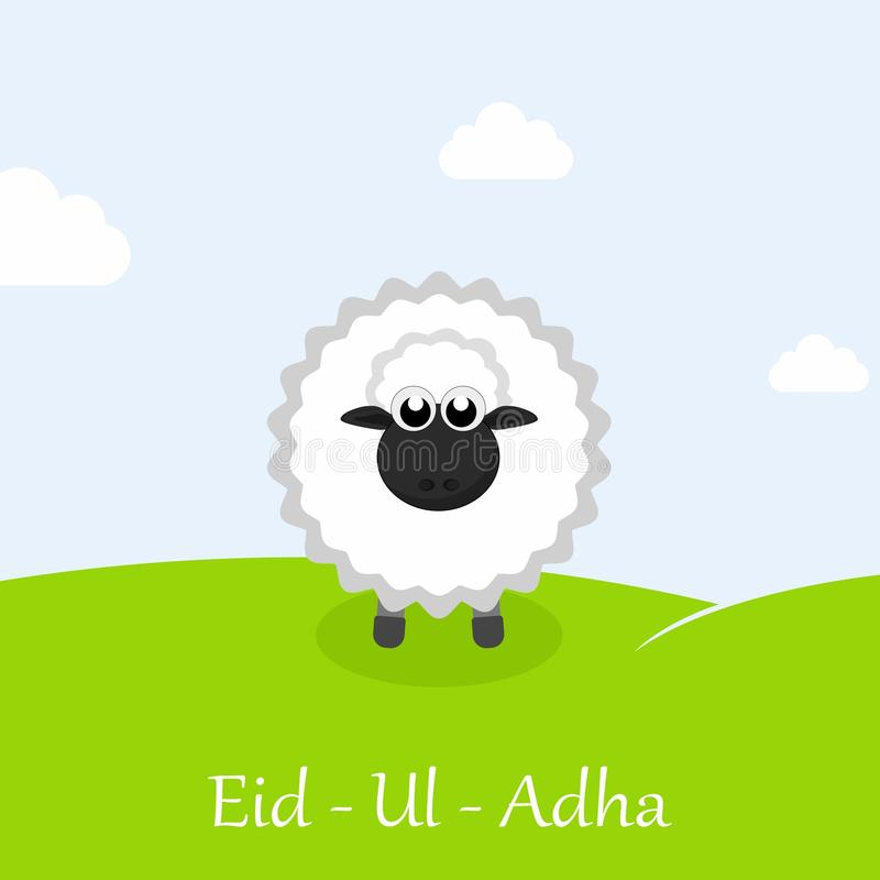 Eid ul adha greeting card with sheep stock vector illustration of download eid ul adha greeting card with sheep stock vector illustration of m4hsunfo