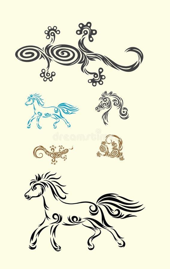 Eidechse, Pferd Stammes- stock abbildung