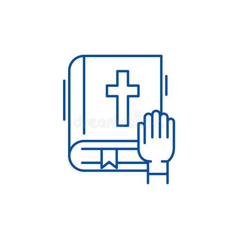 Eidlinie Ikonenkonzept Flaches Vektorsymbol des Eides, Zeichen, Entwurfsillustration lizenzfreie abbildung