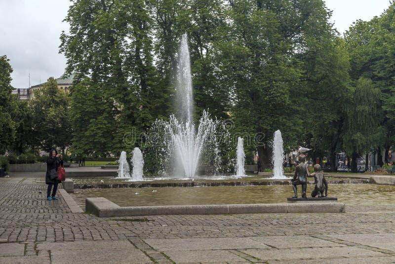 Eidsvoll fyrkant i Oslo arkivfoton