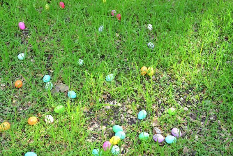 Eier auf dem Gras lizenzfreie stockfotos