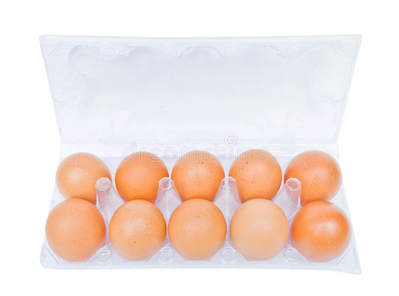 Download Eier In Einem Plastikkarton Stockbild - Bild von eierschale, braun: 26354591