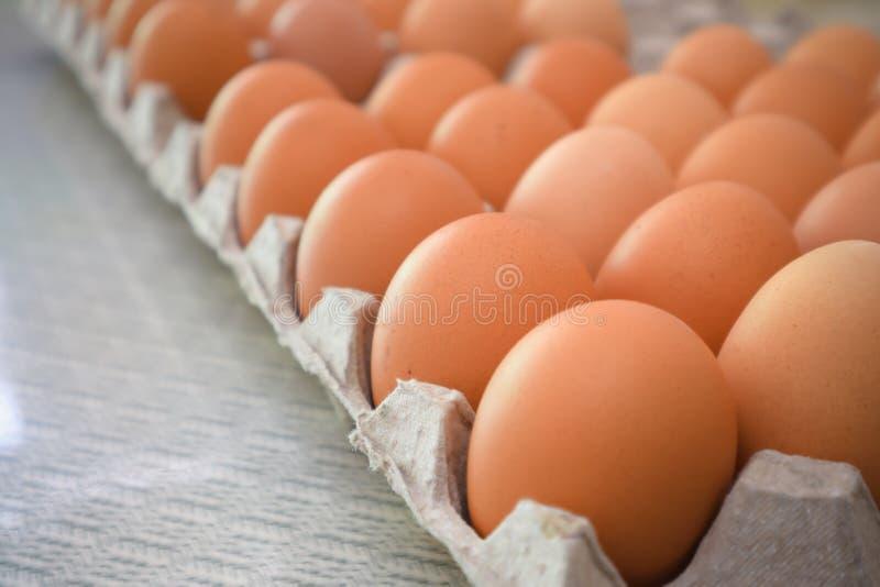 Eier für Frühstücksnahrung in der Küche lizenzfreies stockbild