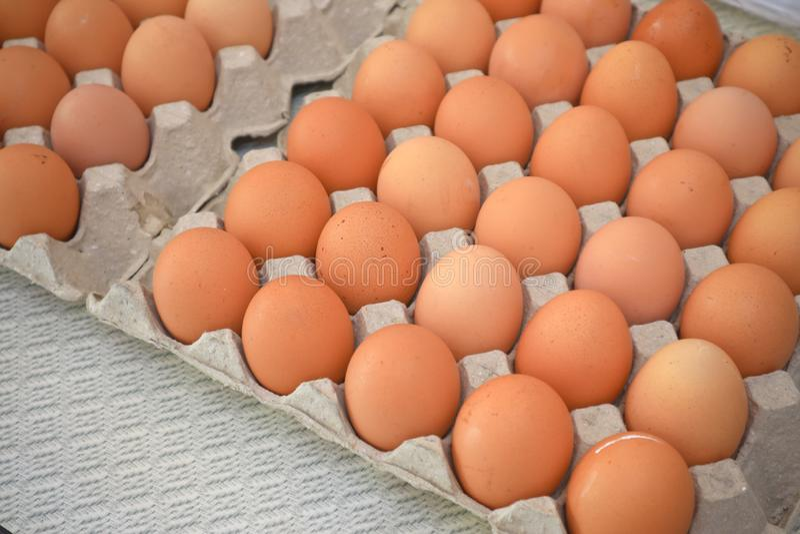 Eier für Frühstücksnahrung in der Küche stockbilder