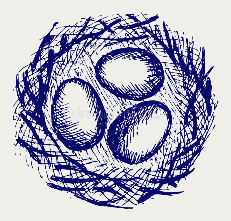 Eier im Nest vektor abbildung