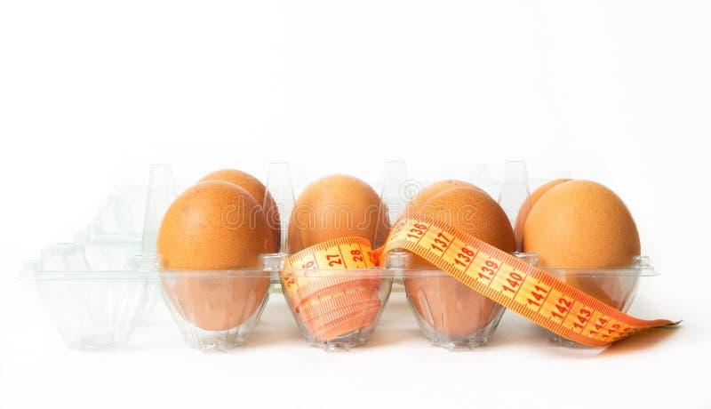 Eier mit dem Di?tmeter lizenzfreies stockfoto