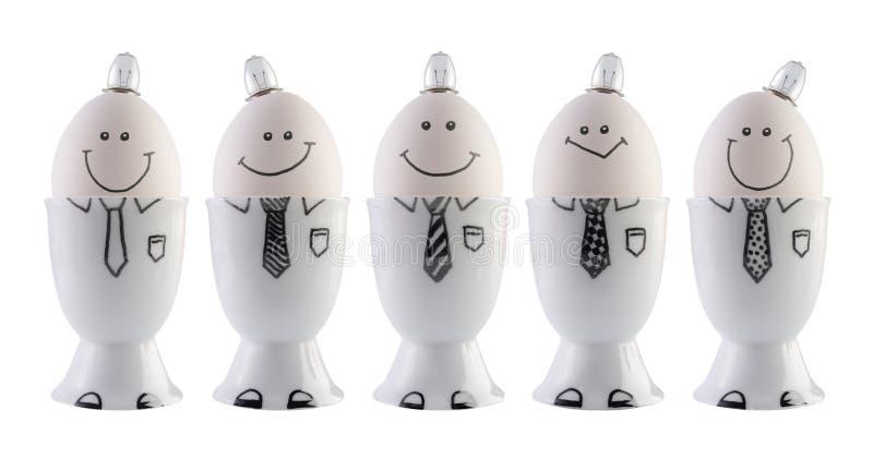 Eieren, creativiteitconcept. stock foto's