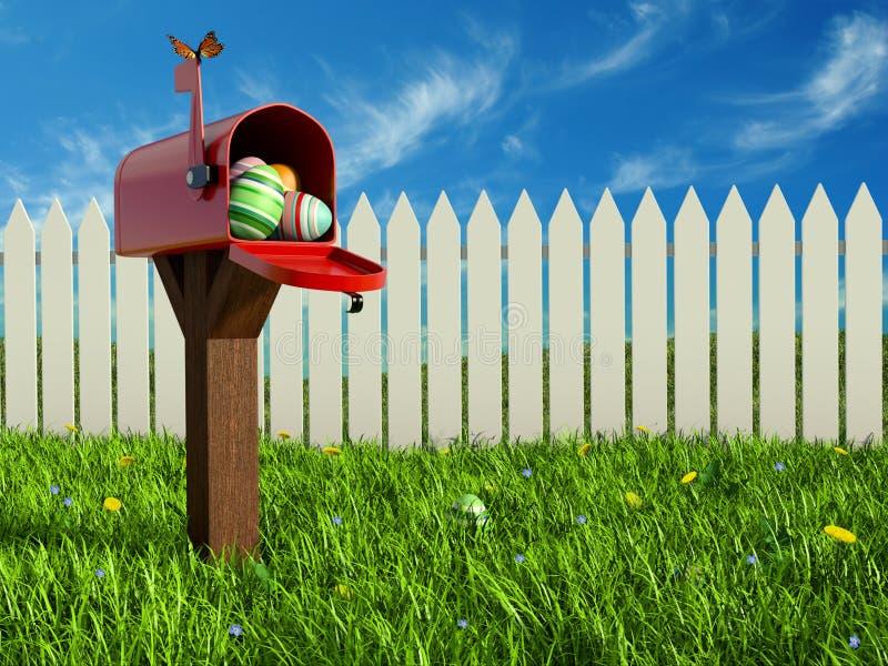 Eieren in de brievenbus royalty-vrije illustratie