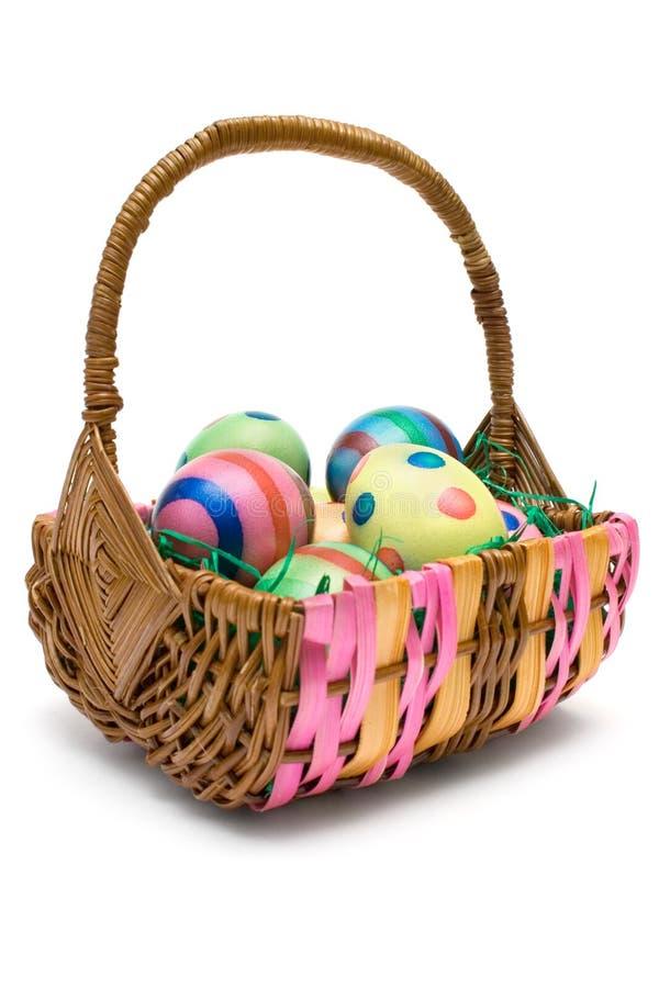 Eieren in de Mand van Pasen royalty-vrije stock foto