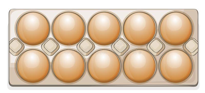 Eieren in een pakket stock illustratie