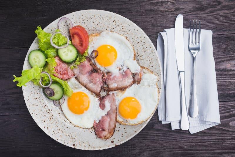 Eieren en bacon royalty-vrije stock afbeelding