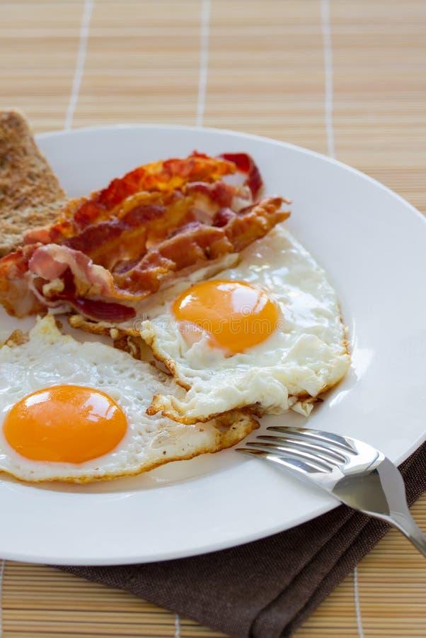 Eieren en bacon royalty-vrije stock foto
