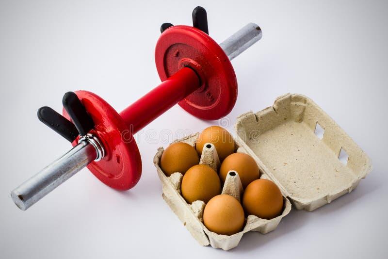 Eieren en Domoor royalty-vrije stock foto