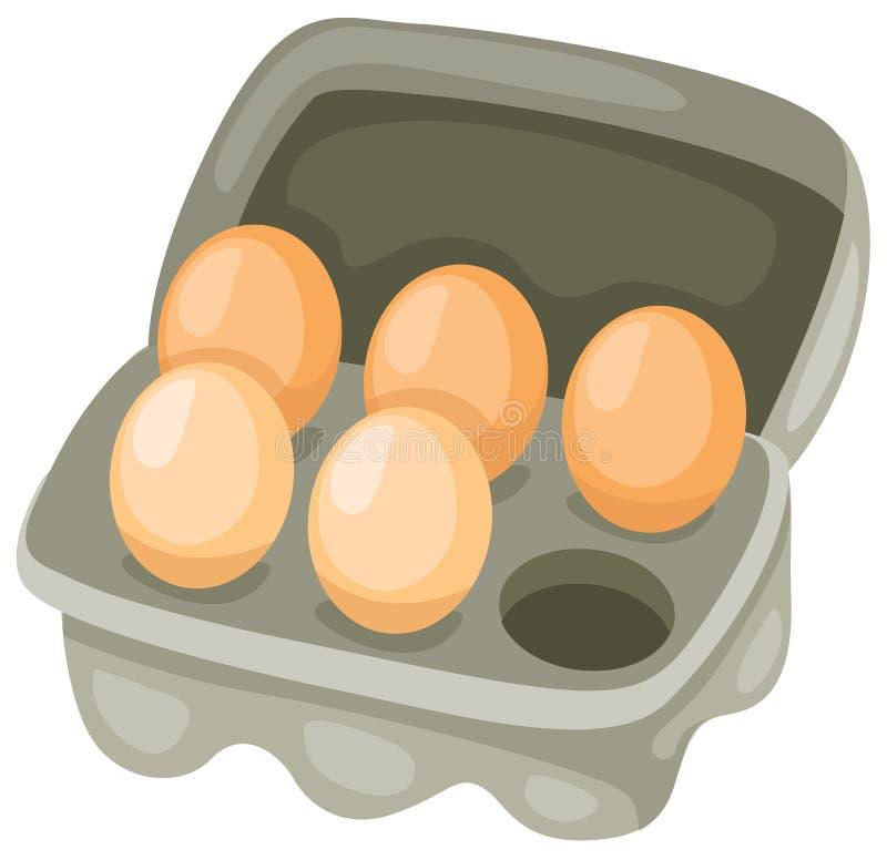 Eieren in karton royalty-vrije illustratie