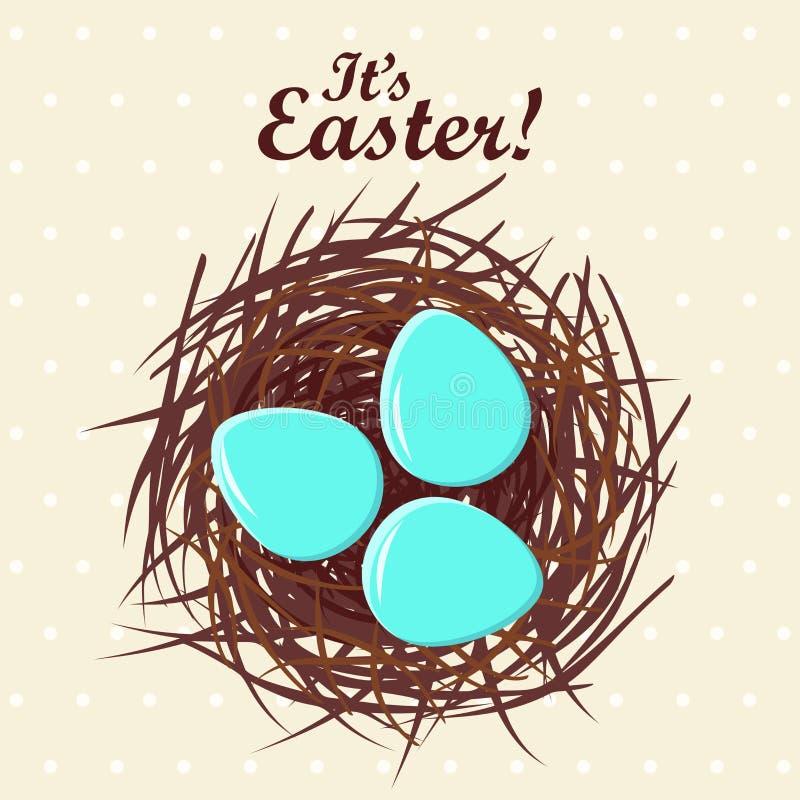 Download Eieren in nest vector illustratie. Illustratie bestaande uit element - 29510143