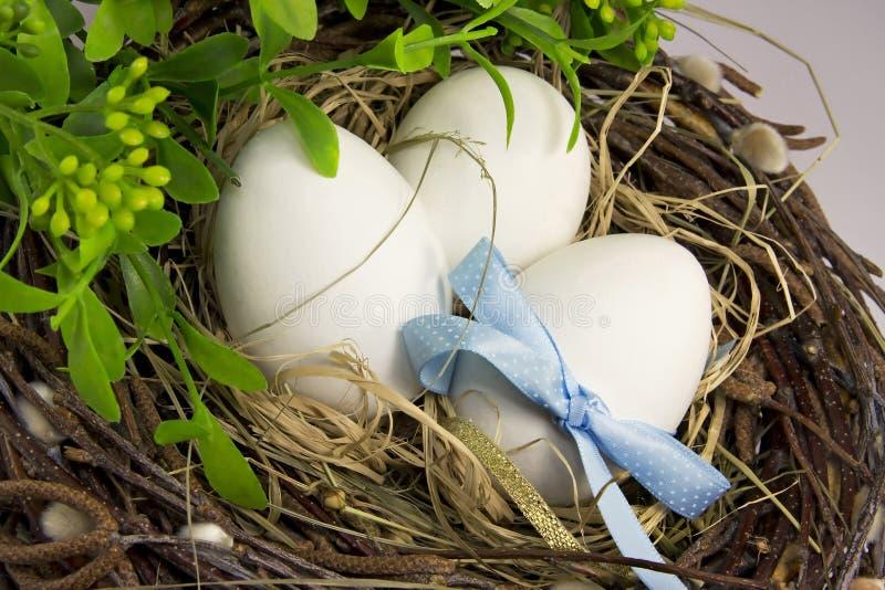 Eieren in nest. stock foto's