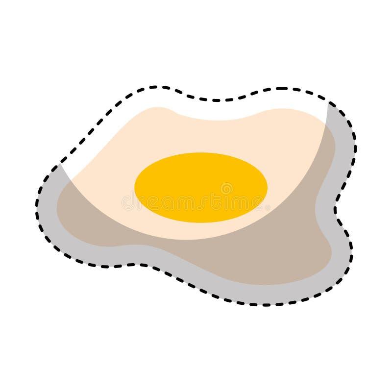 eieren vers voedzaam voedsel vector illustratie