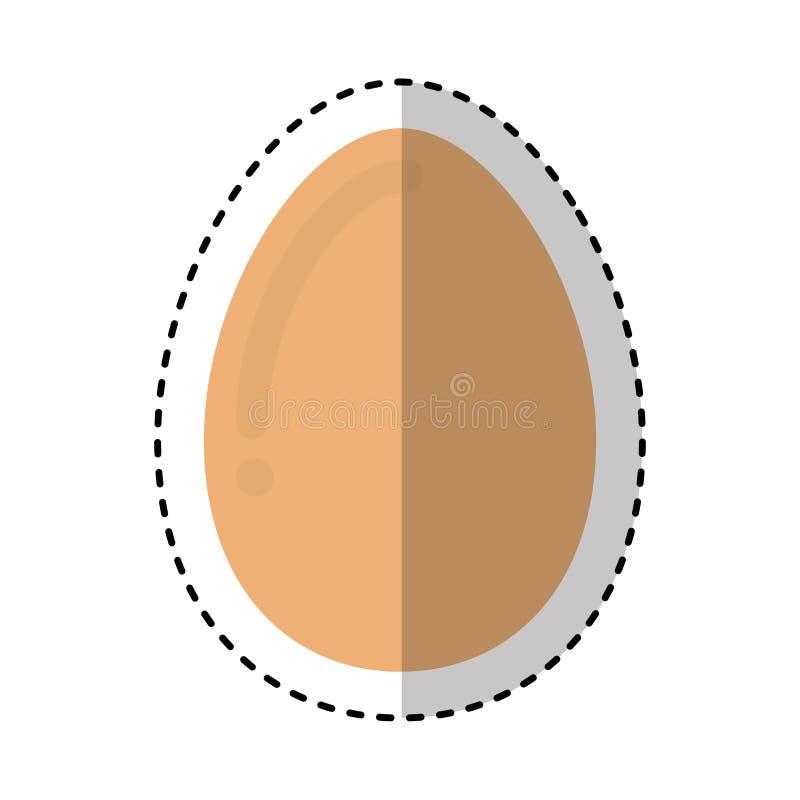 eieren vers voedzaam voedsel royalty-vrije illustratie