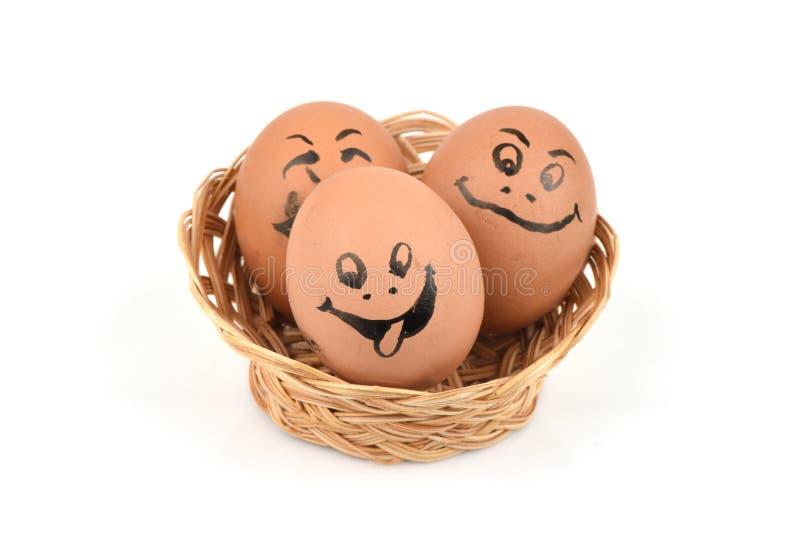 Eierengezichten stock afbeeldingen
