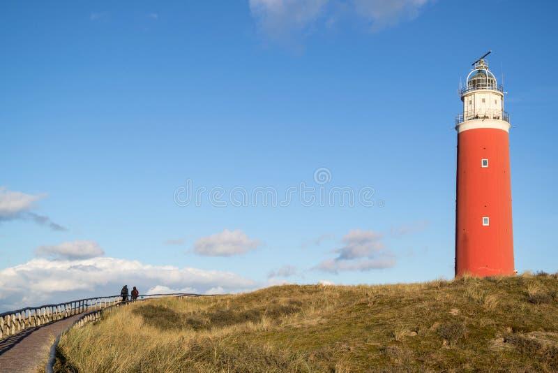 Eierland灯塔 库存图片